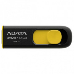 USB флеш накопитель 64Gb A-Data UV128 (AUV128-64G-RBY) Black/Yellow