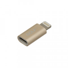 Переходник Golf GC-31 microUSB-Lightning Gold (GC-31)